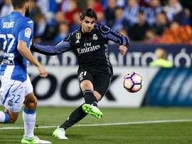 Morata esteve em grande em Leganés com um bis no 1º tempo. Twitter Real Madrid