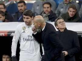 O Real Madrid já terá encontrado o substituto de Morata. EFE