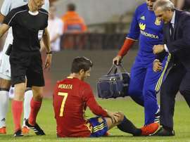 Morata when he got injured. EFE