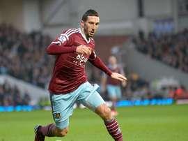 Morgan Amalfitano, con el West Ham United. WHUFC