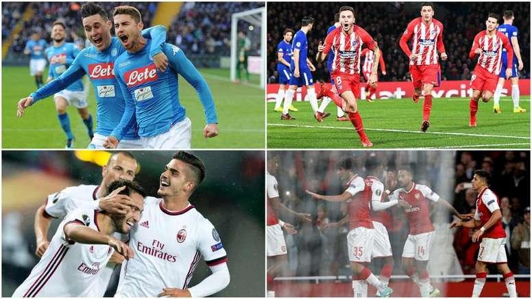 Milan, Atlético, Arsenal y Nápoles están en dieciseisavos de final. BeSoccer