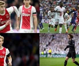 Estos son cuatro de los jugadores que interesan al Barça. AFP/EFE