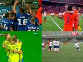 Imágenes de los Holanda-Bulgaria, Bielorrusia-Suecia, Estonia-Chipre e Islas Feroe-Andorra.Movistar+