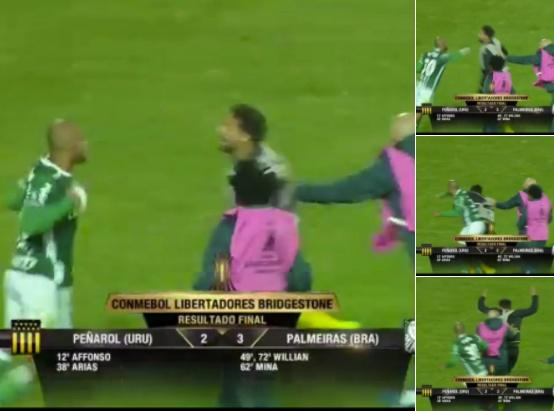 El centrocampista brasileño fue el protagonista de la batalla campal. Twitter