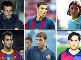 Estos seis jugadores, estrellas de la cantera, no triunfaron en el primer equipo azulgrana.