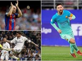 Montage de Messi, Iniesta et Ramos. BeSoccer