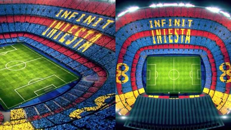 Le Barça rend hommage à Iniesta. Capture/FCBarcelone