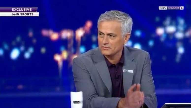 Mourinho elogiou Klopp e criticou o Barça. Captura/beIN SPorts