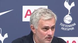 Mou recordó la situación del Tottenham cuando llegó al conjunto inglés. Captura/AS