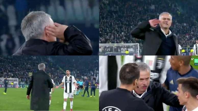 Mourinho se défend. Capture/RAI