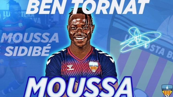 Moussa Sidibé, al UE Costa Brava. Twitter/UE_CostaBrava
