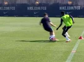 Wagué a montré les raisons de son arrivée. Capture/FCBarcelonaB
