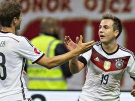 Müller logró el segundo gol de Alemania y Götze fue protagonista en el primero. FCBayern