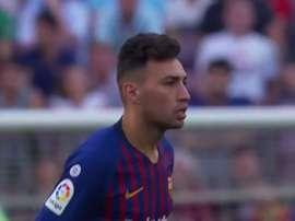 Munir a marqué le premier but. Twitter/ElChiringuitoTV
