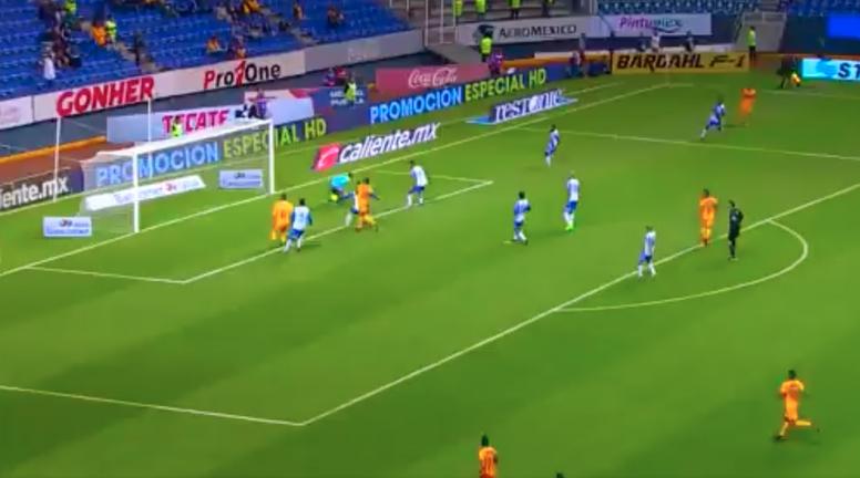 Valencia puso el empate en el marcador. Captura/Azteca