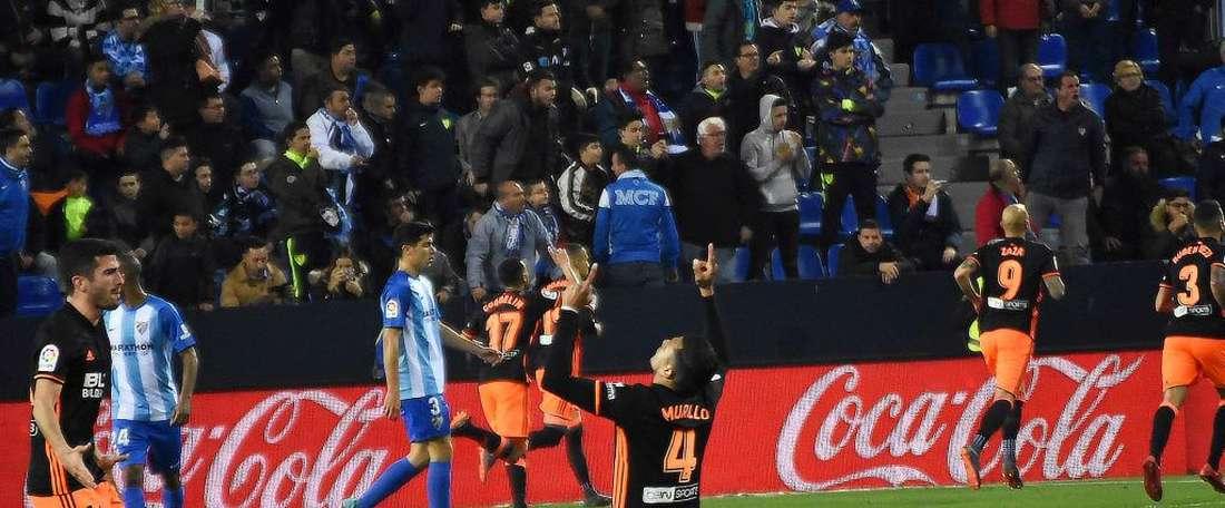 Em Málaga, quem sorriu foram os valencianos. BeSoccer