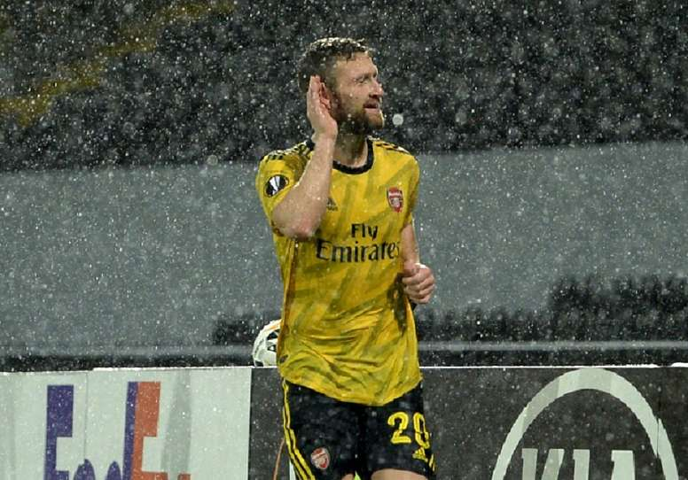 Mustafi scored for Arsenal, but it was not enough to claim all three points. Twitter/Arsenal