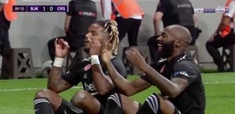 ¡Ni 10 minutos tardó el primer gol de la Superliga Turca 21-22! Captura/beINSports