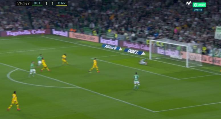 Nabil Fekir redonné l'avantage au Betis. Capture/MovistarLaLiga