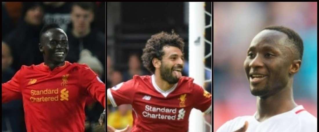 Keita, Salah and Mane all make the list. BeSoccer