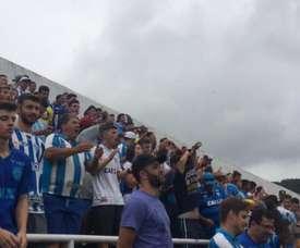 A torcida do Avaí viu o seu time consumar o rebaixamento ao segundo escalão. Twitter/Avaí
