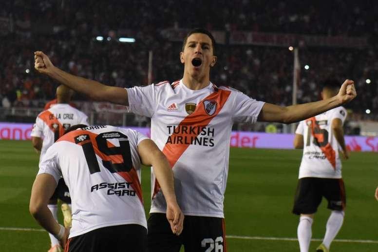 Nacho Fernández habló del choque contra Almagro. RiverPlate