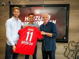 Nadiem Amiri signe au Bayer. Bayer04