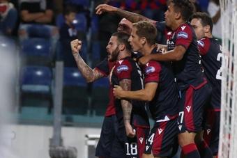 Le formazioni ufficiali di Cagliari-Spezia. EFE