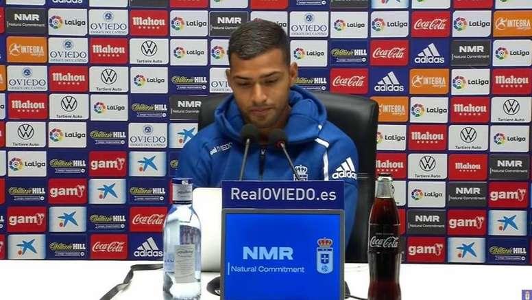 El Oviedo presentó a Nahuel. Captura/RealOviedo