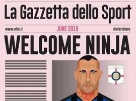Nainggolan é anunciado oficialmente na Inter. Twitter @Inter
