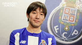 Nakajima, nuevo refuerzo del Oporto. Twitter/FCPorto