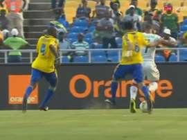 Nakoulma anotó el tanto de Burkina Faso ante Gabón. Twitter