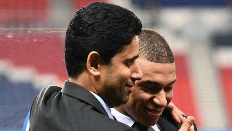 Al Khelaifi is 200% sure Mbappe will stay at PSG this summer. AFP