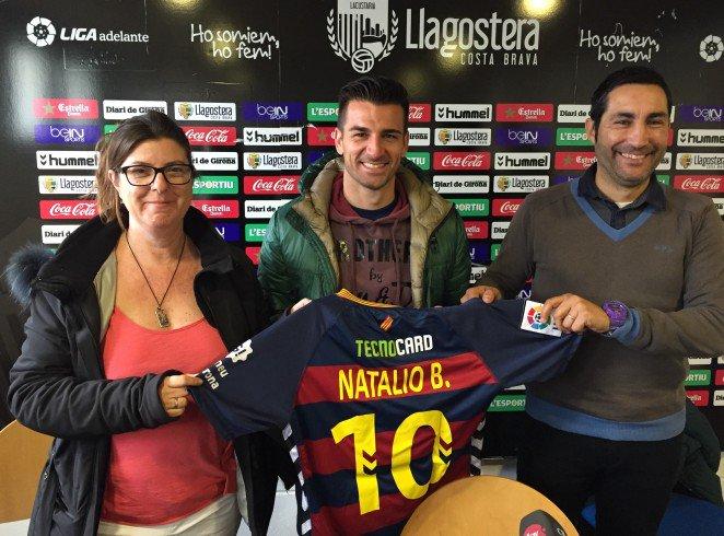 Natalio Lorenzo en su presentación como jugador del Llagostera. Twitter
