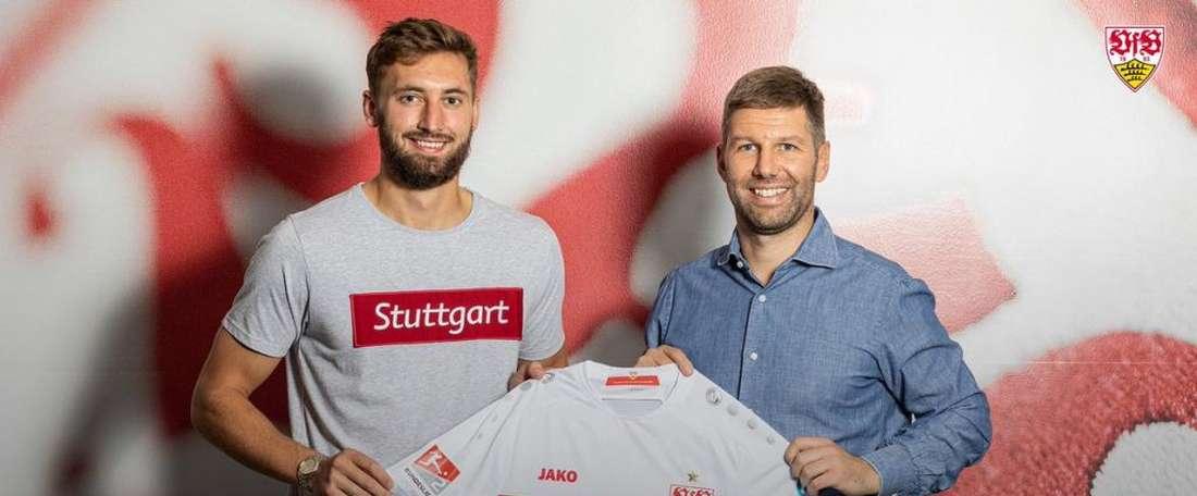 Phillips jouera en prêt à Stuttgart. Twitter/VfB