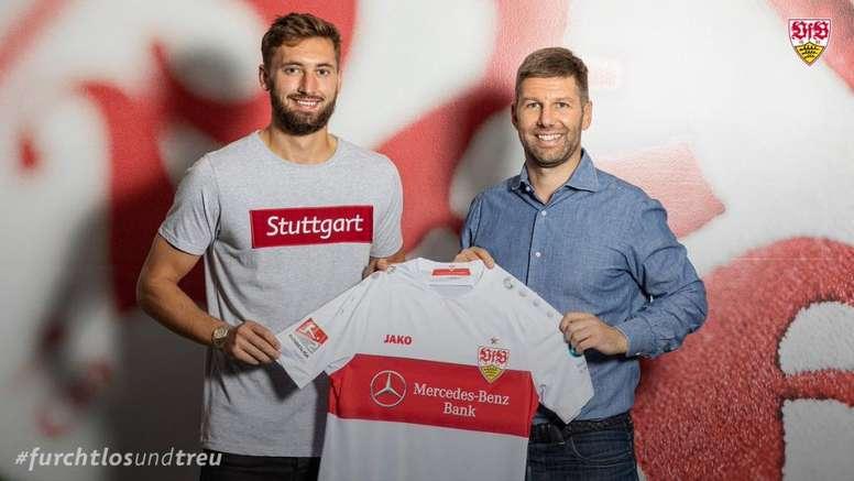 Phillips jugará cedido en el Stuttgart. Twitter/VfB