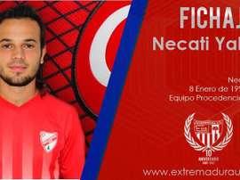 Necati Yakuplar, último refuerzo del Extremadura UD para la próxima temporada. TwitterEXT_UD