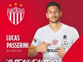 Lucas Passerini deixou o Cruz Azul e assinou com o Necaxa. Necaxa