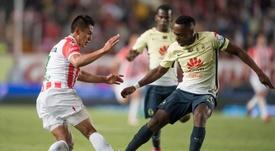 Necaxa casi consigue la victoria ante América. ClubAmérica