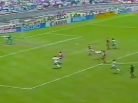 Negrete's scissor kick was recently voted the best ever World Cup goal. Screenshot