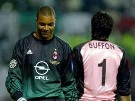 Nelso Dida playing a game for AC Milan. Twitter