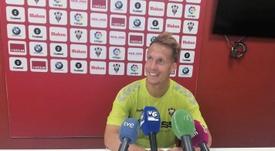 El jugador del Albacete habló sobre su amistad con Jon Erice. Twitter/AlbaceteBPSAD