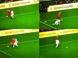 Neuer efface un attaquant biélorusse. Capture/RTL