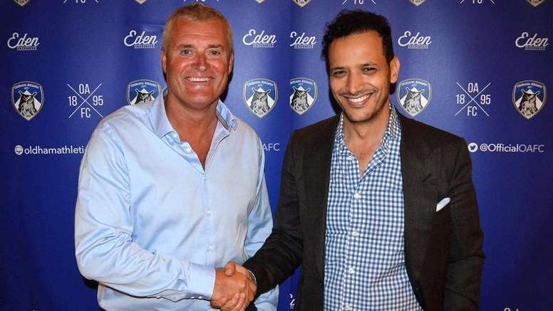 The new Lactic's manager was announced on Wednesday. Oldham Athletic club website