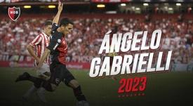 Newell's compró el 90% del pase de Gabrielli. Twitter/CANOBoficial
