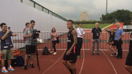 Neymar arrived in China with a point to prove. Twitter/JulienQuelen