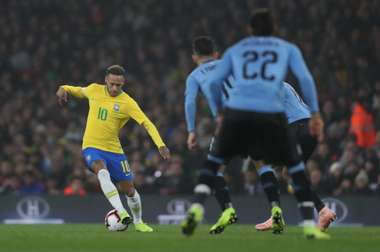 Neymar scored the penalty to give Brazil the win. LucasFigueiredo/CBF