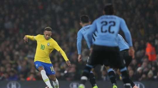 Neymar scored the penalty to give Brazil the win. LucasFigueiredo/CBF