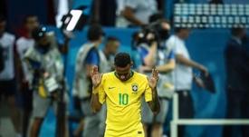 Neymar est très triste après l'élimination. Twitter/Neymarjr