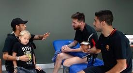 Neymar trasladó su desconfianza con el Barça al vestuario 'culé'. NeymarJR